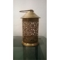 Antique hut candle holder