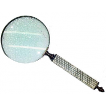 Antique Magnifier With Handle, 6 Inches