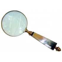 Antique Magnifying Glass With Handle , 6 Inches