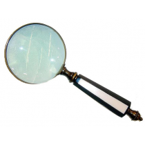 Antique Magnifying Glass With Wooden Handle, 6 Inches