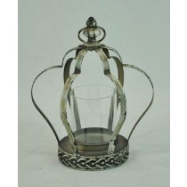 Antique Silver Decorate Metal Candle Holder