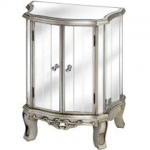 Antique Silver Mirrored Table Cabinet