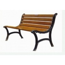 Antique Style Brown & Black Lawn Three Seater Bench