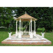 Antique White Finish Metal Gazebo