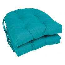 Aqua Blue 16 Inch U Shaped Cushion With Ties