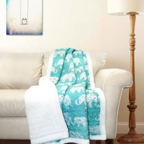Aqua Unique Design Cotton Throw