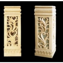 Artificial Hand Carved Design Small Pedestal(H 900 X W 260 X D 260 mm)