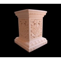 Artificial Red Sandstone Leaf Design Pedestal