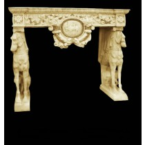 Artificial Sandstone Animal Design Fireplace