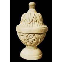 Artificial Sandstone Antique Leaf Carved Design Sculpture