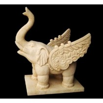 Artificial Sandstone Baby Elephant With Wings Fountain