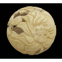 Artificial Sandstone Ball Shape Floral Design Lamp