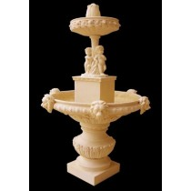Artificial Sandstone Boy & Lion Face Water Fountain