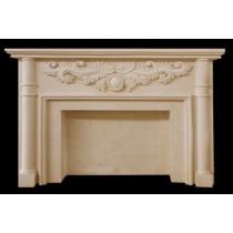 Artificial Sandstone Bricks Floral Work Fireplace