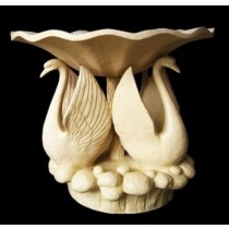 Artificial Sandstone Carved Bowl Swan Bird Fountain