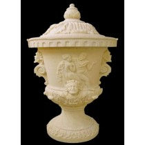 Artificial Sandstone Carved Couple Pattern Flowerpot