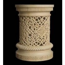 Artificial Sandstone Carved Design Pedestal(H 700 X 410 mm)