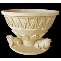 Artificial Sandstone Carved Frog Design Flowerpot