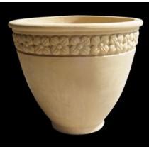 Artificial Sandstone Classic Style Floral Design Flowerpot