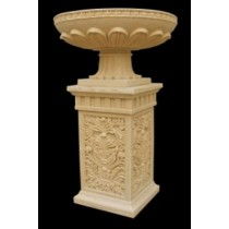 Artificial Sandstone Decorative Pedestal Flowerpot