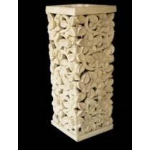 Artificial Sandstone Elegant Floral Design Pedestal