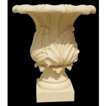 Artificial Sandstone Elegant Unique Carved Flowerpot