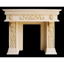 Artificial Sandstone Floral Work Fireplace