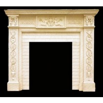 Artificial Sandstone Hand Carved Design Fireplace