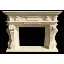 Artificial Sandstone Hand Carved Royal Design Fireplace