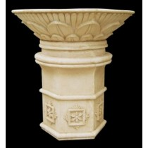 Artificial Sandstone Hexagonal Base Pedestal Flowerpot