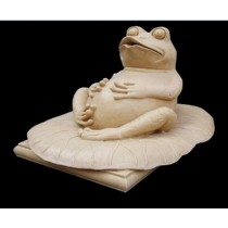 Artificial Sandstone Lazy Frog Water Fountain