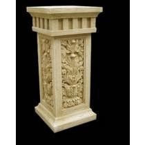 Artificial Sandstone Leaf Pattern Pedestal Stand