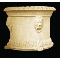 Artificial Sandstone Lion Face Pattern Flowerpot