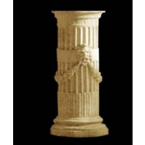 Artificial Sandstone Man Face Pillar Style Pedestal