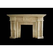 Artificial Sandstone Medium Floral Work Fireplace