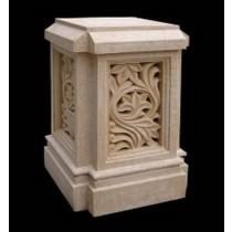 Artificial Sandstone Modern Style Carved Pedestal