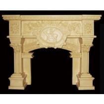Artificial Sandstone Natural Design Carved Fireplace