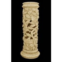 Artificial Sandstone Oak Leaf Pattern Pedestal
