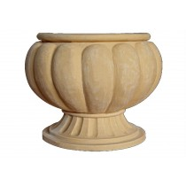 Artificial Sandstone Pumpkin Shape Carved Flowerpot