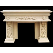 Artificial Sandstone Rectangle Shape Fireplace