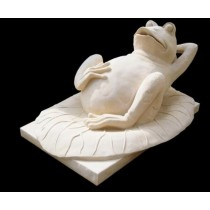 Artificial Sandstone Resting Frog Water Fountain