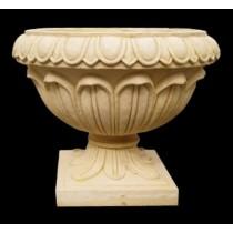 Artificial Sandstone Round Lotus Petals Flowerpot