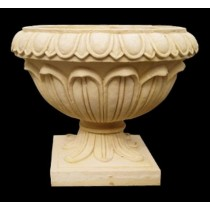 Artificial Sandstone Round Lotus Petals Small Flowerpot