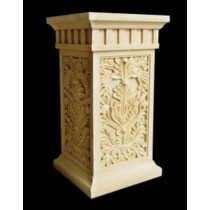Artificial Sandstone Square Floral Work Pedestal