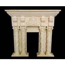 Artificial Sandstone Twisted Design Pillar Fireplace