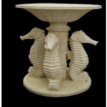 Artificial Sandstone Unique Sea Horse Pattern Flowerpot