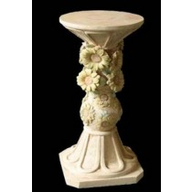 Artificial Unique Sunflower Design Sandstone Pedestal
