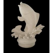 Artificial White Sandstone Decorative Fish Fountain