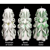 Band Of Color Hand Carved Cut & Curl Candle