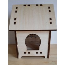 Beautiful Brown MDF Bird House